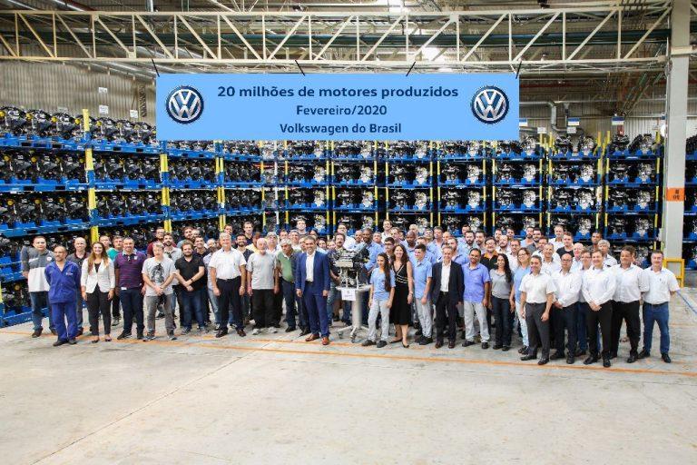 VW do Brasil conquista a marca de 20 milhões de motores produzidos