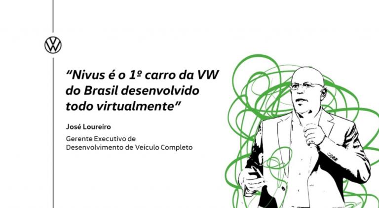 """""""Nivus é o 1º carro da VW do Brasil desenvolvido todo virtualmente"""""""
