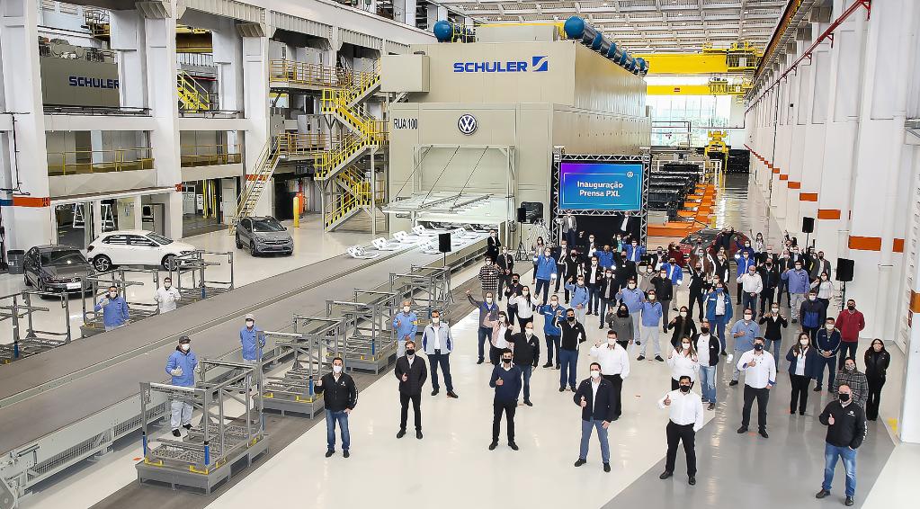 VW do Brasil inaugura nova prensa na unidade Anchieta