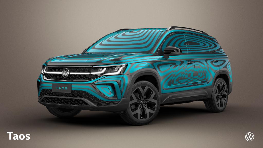 Volkswagen apresenta o Taos com uma camuflagem vibrante
