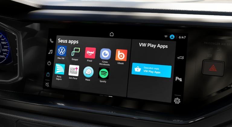 Polo e Virtus 2022 ganham VW Play e novos apps